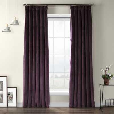 Livia Velvet Solid Color Room Darkening Thermal Rod Pocket Curtain Panel - Wayfair