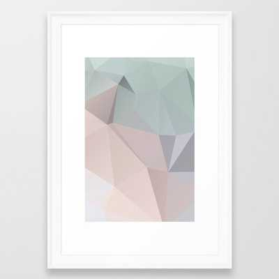 Pastell 2 – modern polygram illustration, wall art print Framed Art Print - Society6