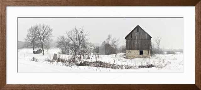 An Old Barn on Howe Island in Winter - art.com