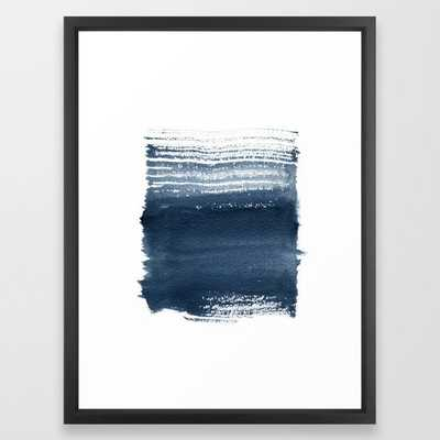 Just Indigo 1 | Minimalist Watercolor Framed Art Print - Society6