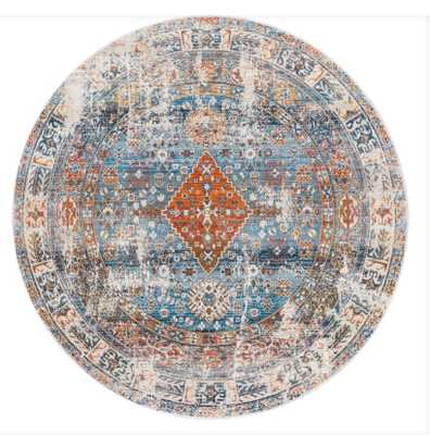 nuLOOM Farley Medallion Fringe Blue 5 ft. Round Rug - Amazon