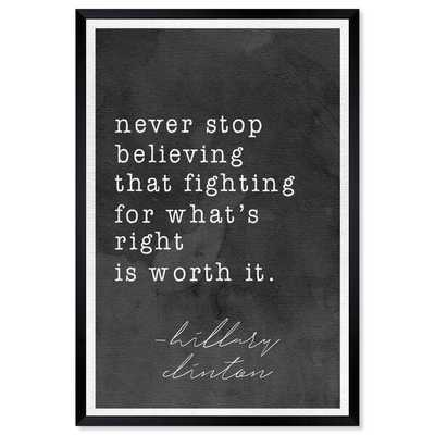 'Never Stop Believing' Textual Art on Picture Frame - Wayfair