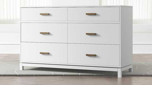 Kids Parke White 6-Drawer Dresser - Crate and Barrel