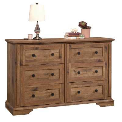 Mechling 6 Drawer Double Dresser - Vintage Oak - Wayfair
