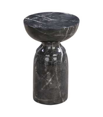 Alessandra Black Marble Side Table - Maren Home