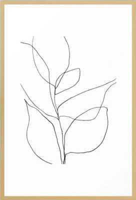 "Minimalist Line Art Plant - conservation natural - 26"" x 38"" - Society6"