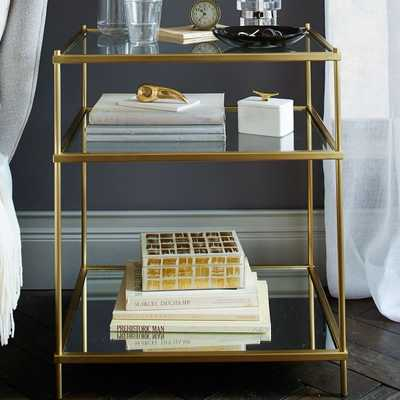 Terrace Nightstand - Antique Brass Finish - West Elm