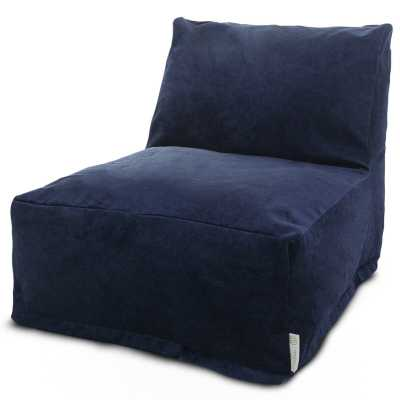 Zipped Bean Bag Lounger - navy - Wayfair