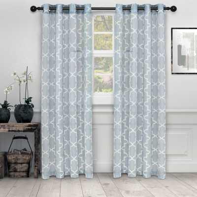 Cartensen Quatrefoil Semi-Sheer Grommet Curtain Panels, ( set of 2 ) - Wayfair