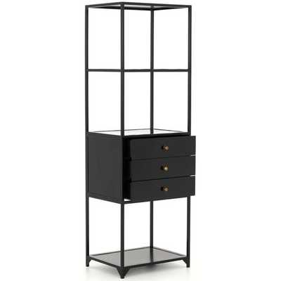 Shadow Box 3 Drawer Bookshelf - High Fashion Home