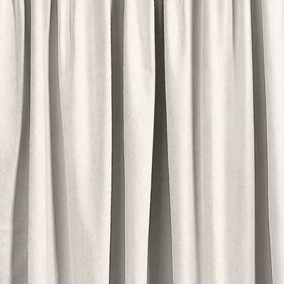 Ballard Essential Drapery Panel - off white twill, 96'' - Ballard Designs