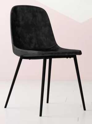 Blake Upholstered Dining Chair- Charcoal (set of 2) - Wayfair