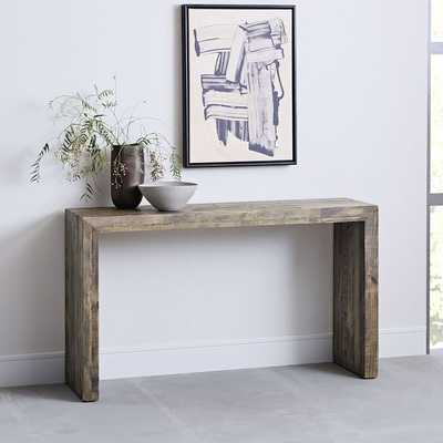 Emmerson Reclaimed Wood Console - stone gray. - West Elm