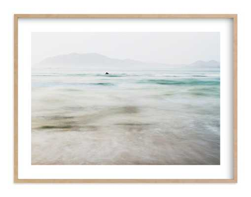 The Pacific - 40 x 30, Natural Raw Wood Frame, white border - Minted