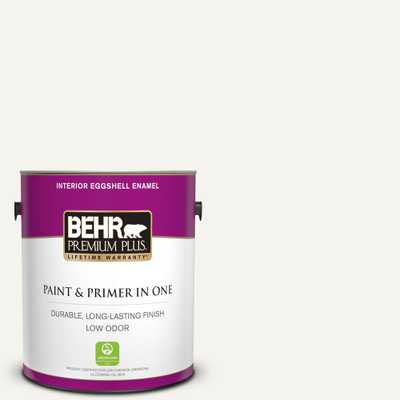 1 gal. #75 Polar Bear Eggshell Enamel Low Odor Interior Paint and Primer in One - Home Depot