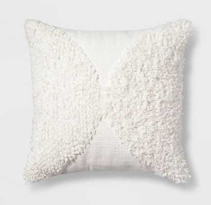 Tufted Half Circle Square Throw Pillow - Project 62™ - Target
