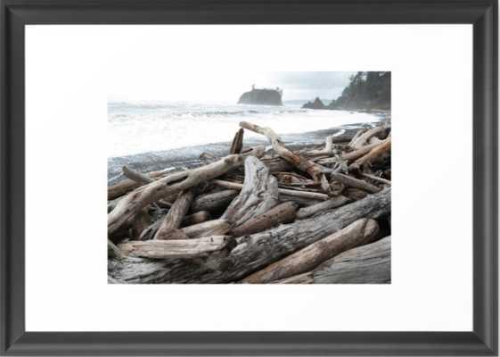 """Stormy Ruby Beach, Framed Art Print, Scoop Black Frame, 15""""x21"""" - Society6"""
