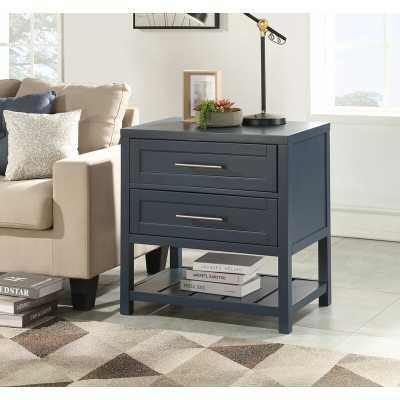 Medrano 2 - Drawer Solid Wood Nightstand / Blue - Wayfair