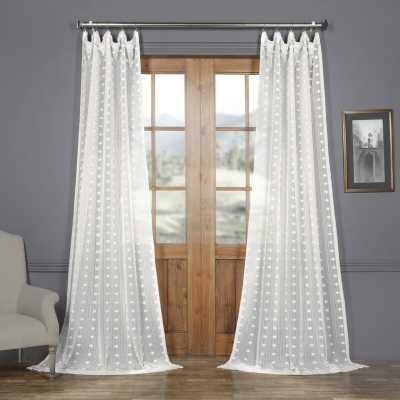 Levesque Polka Dots Sheer Rod Pocket Single Curtain Panel - Wayfair