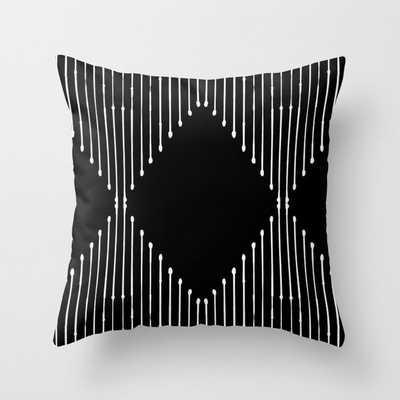 Geo / Black Throw Pillow - Society6