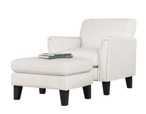 Forsan Armchair and Ottoman - Wayfair