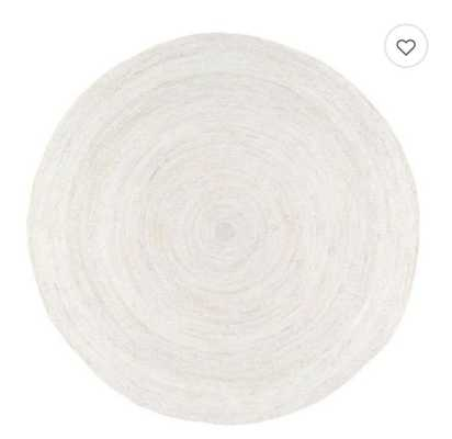 nuLOOM Rigo Jute 8-Foot Round Area Rug in White - Bed Bath & Beyond