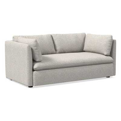 """Shelter 72"""" Sofa, Poly, Chenille Tweed, Irongate, Concealed Supports - West Elm"""