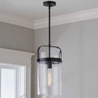 Cylinder Slim Pendant - Matte Black - Shades of Light