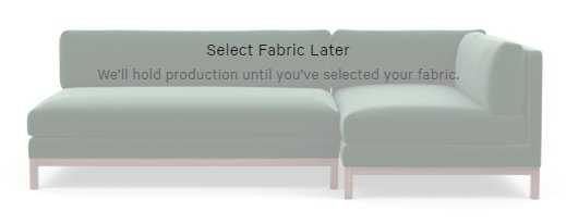 JASPER Short Left Chaise Sectional Sofa - Decide Later fabric - Interior Define