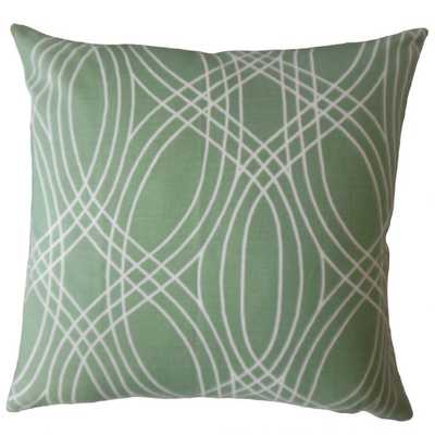 Gayla Geometric Pillow - Succulent - 18x18 with poly insert - Linen & Seam