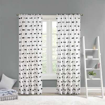 Castro Pom Pom Semi-Sheer Thermal Rod Pocket Single Curtain Panel - Wayfair