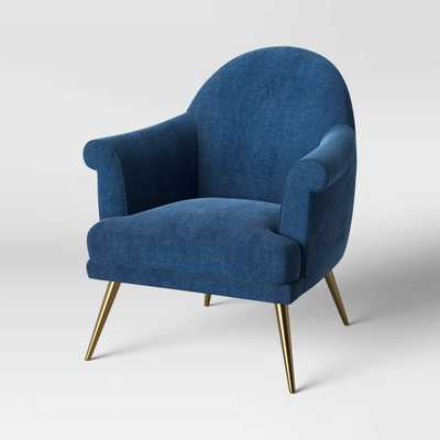 Myna Tufted Arm Chair with Brass Legs Forest Green - Opalhouse - Target