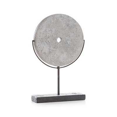 Grey Volcanic Ash Disc Sculpture - Crate and Barrel