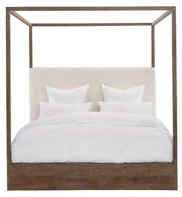 Eastern Canopy Bed, Ivory/Natural Linen - King - One Kings Lane