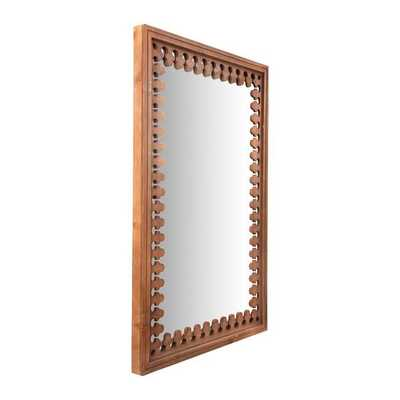 Bade Wood Cottage Distressed Wall Mirror - Wayfair