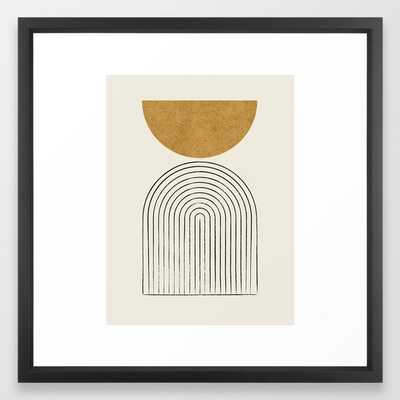 Arch Balance Gold Framed Art Print - Society6