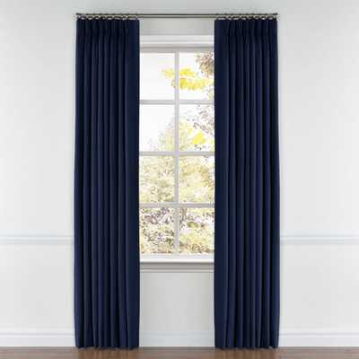 Pinch Pleat Drapery - Classic Velvet - Navy - Loom Decor