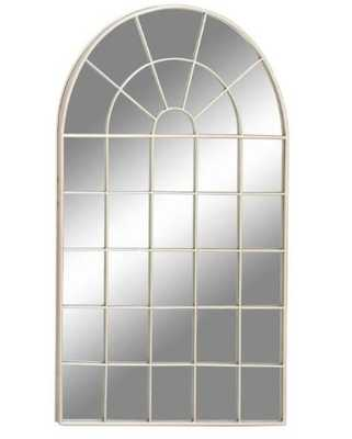 DecMode Arched Windowpane Wall Mirror - 34W x 56H in. - Hayneedle