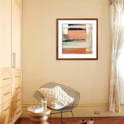 "ORANGE & BLUE II By Sharon Gordon-30"" x 30"" Framed Art Print - art.com"