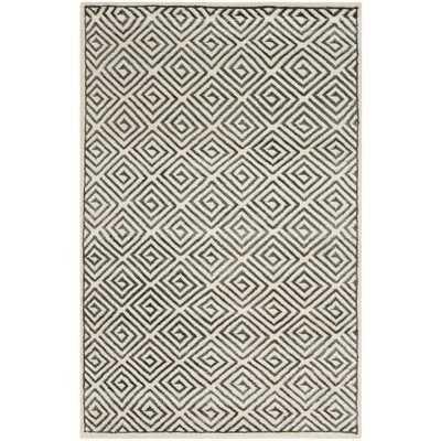 Mosaic Ivory / Grey Geometric Rug - Wayfair