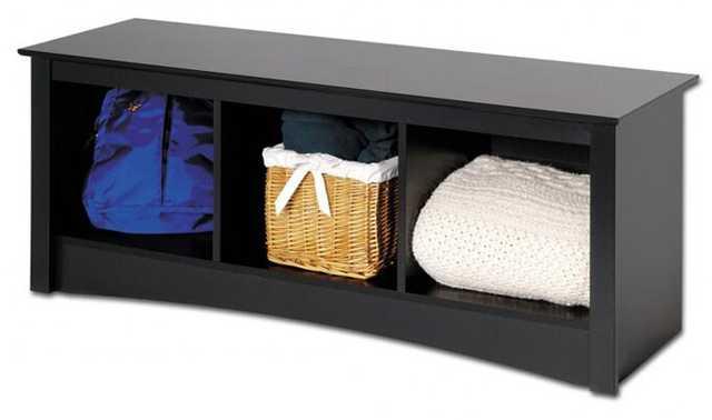 Wanda Storage Wood Bench - Wayfair