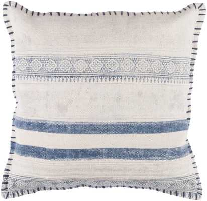 "Lola 20"" x 20""  Pillow Shell with Down Insert - Neva Home"