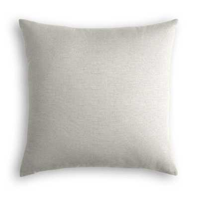 "Classic Linen Pillow, Sandy Tan, 22"" x 22"" - Havenly Essentials"