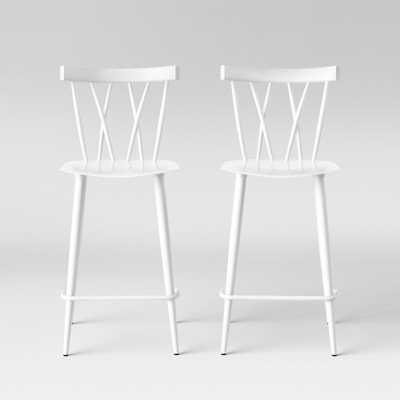 Set of 2 Becket Metal X Back Counter Stool White - Project 62 - Target
