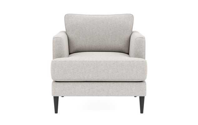 Winslow Chair, Pebble Heathered Weave, Tapered Black Legs - Interior Define