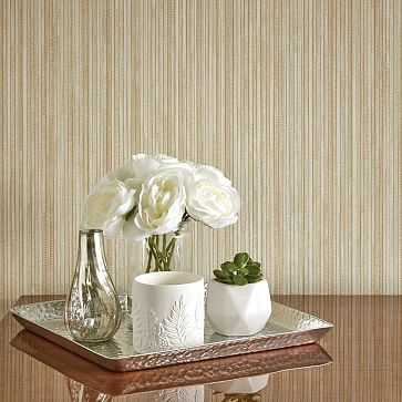 Peel & Stick Grasscloth Wall Paper, Sand - West Elm
