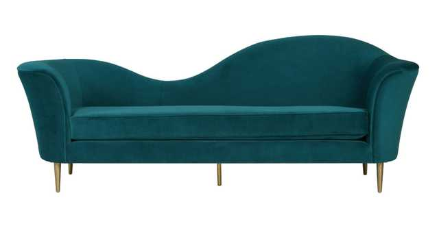 Zuri Aqua Velvet Sofa - Amazon