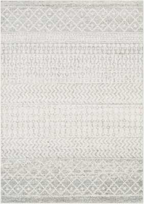 Leonard Pattern Wool Gray Area Rug - Wayfair
