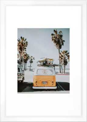 lets surf / venice beach, california Framed Art Print framed 15x21 - Society6