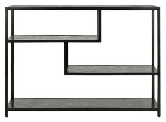 Reese Geometric Console Table - Black/Black - Arlo Home - Arlo Home